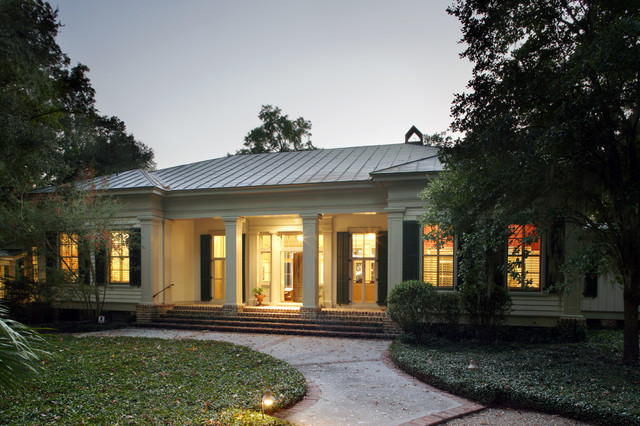 Classic revival traditional exterior by our town plans for Classic house design concepts