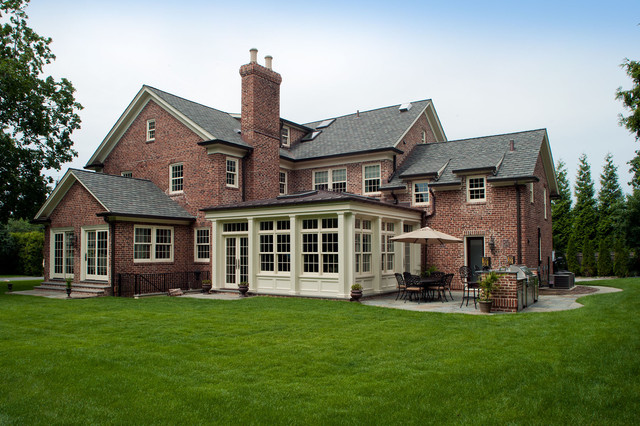 Classic Scarsdale Brick Colonial traditional-exterior