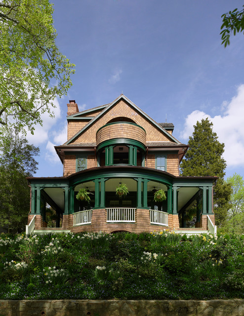 Classic shingle style house victorian exterior dc for Victorian shingles