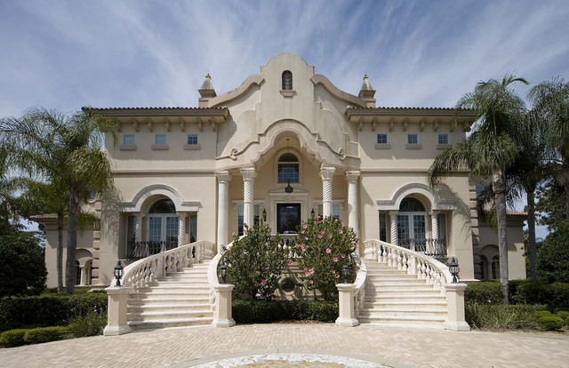 Classical italian palladian mediterranean luxury villa for Palace design homes