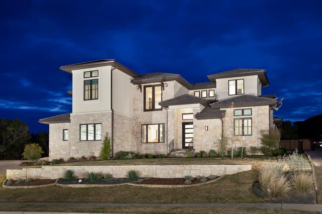 Clean modern transitional modern exterior austin for Modern homes llc