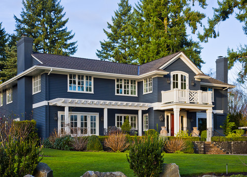Beautiful home do you know the exterior paint color - Sherwin williams outerspace exterior ...