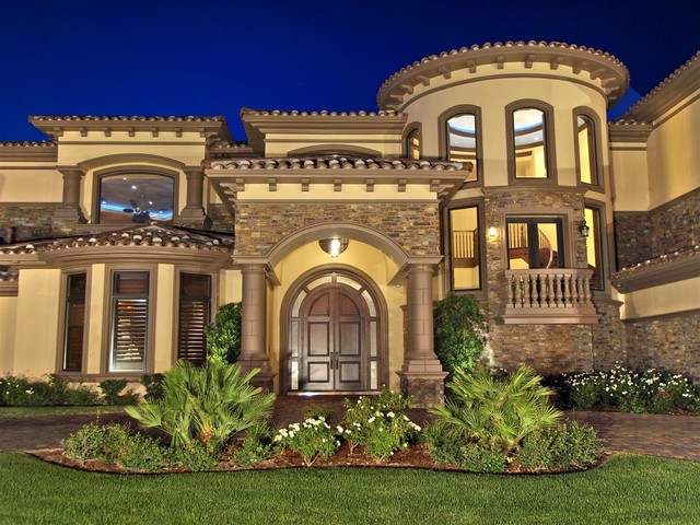 Coach southern highlands mediterranean exterior for Elegant luxury homes