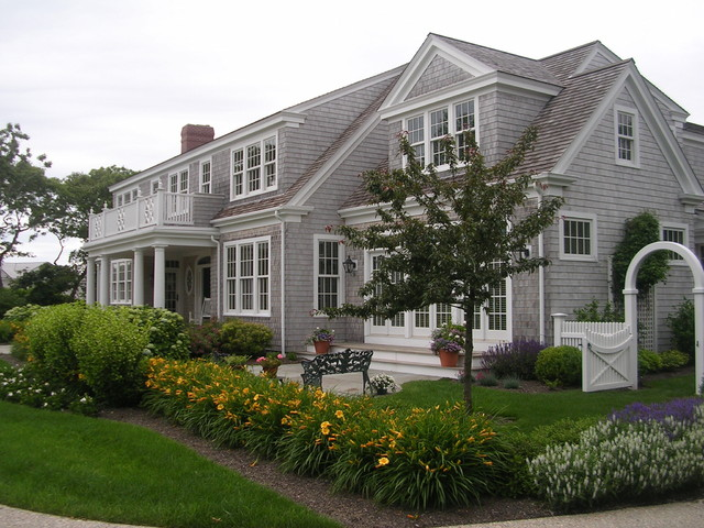 Coastal cape cod beach style exterior boston by for Landscaping for cape cod style houses