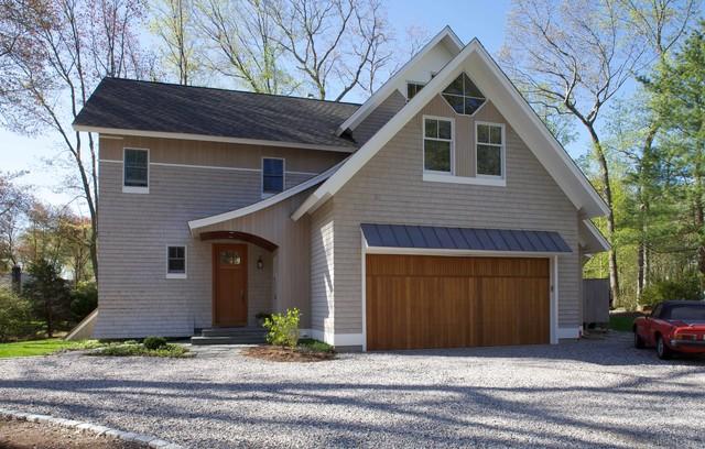 Coastal CT home eclectic-exterior