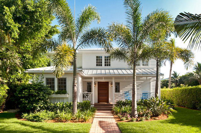 Coastal Home Entrance Porch Tropical Exterior