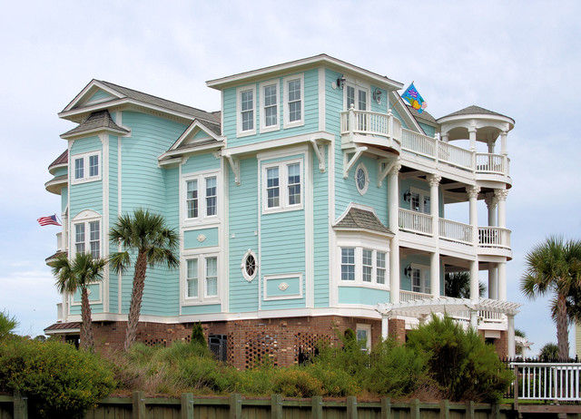 coastal homes beach style exterior wilmington by