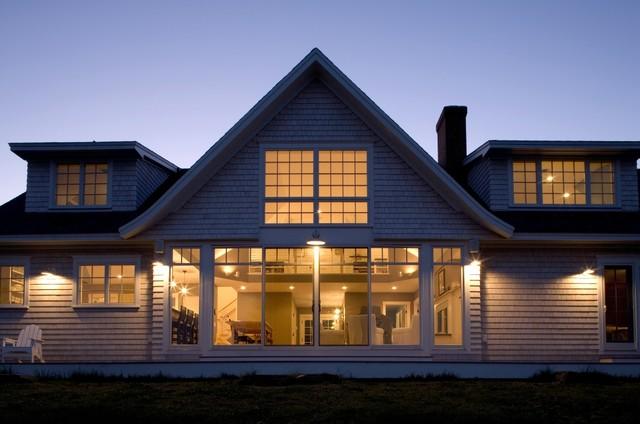 Coastal Modern Cottage Beach Style Exterior Portland