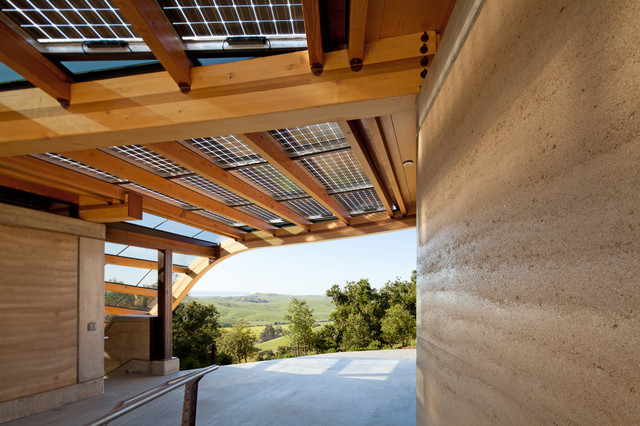 Coastal rammed earth eclectic exterior san luis for Architecture firms san luis obispo