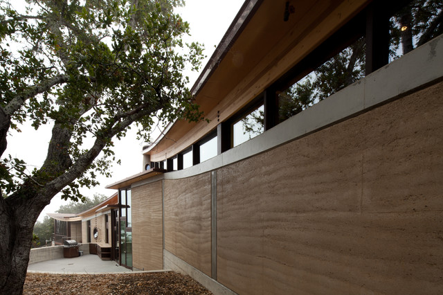 Coastal Rammed Earth eclectic-exterior