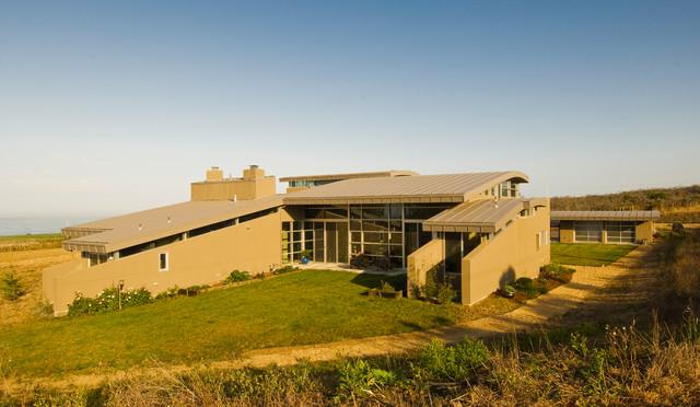Coastside view home contemporary-exterior