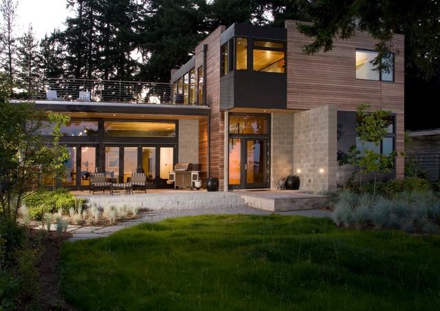 Coates architects contemporaneo facciata seattle for Casa in stile scandole