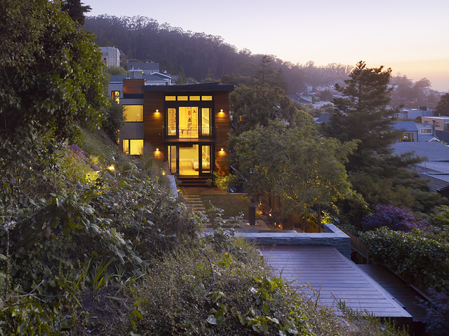 Cole Valley Hillside modern exterior
