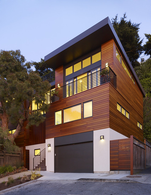 Cole Valley Hillside - John Maniscalco Architecture contemporary-exterior
