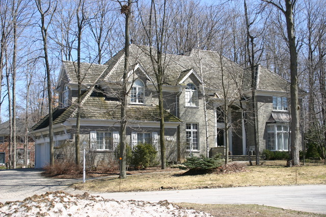 Colonial Acres Stone House traditional-exterior