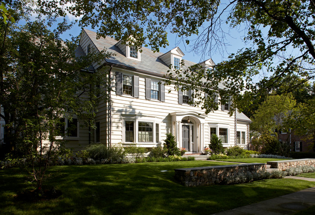 Colonial Addition Front Traditional Exterior Boston
