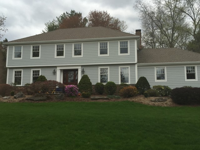 Colonial Exterior Makeover Traditional Exterior New York By P J Sullivan Construction