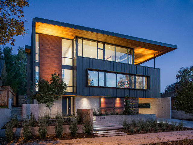 Colonial Heights Residence Contemporary Exterior Portland By Scott Edwards Architecture
