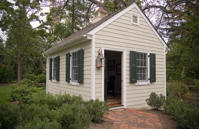 Gentil Colonial Outbuilding Office Traditional Exterior