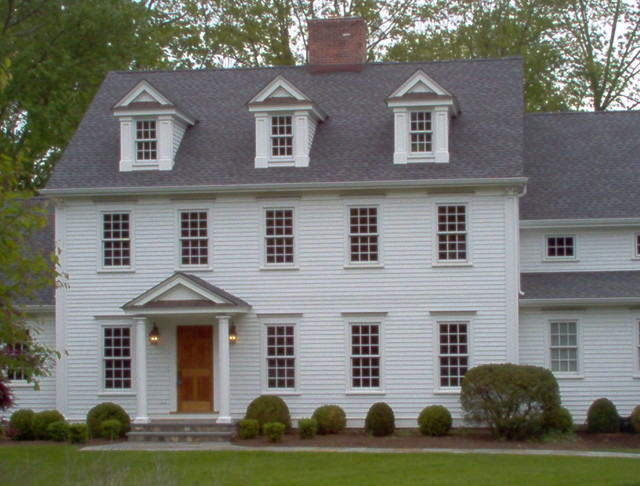 Colonial renovation traditional exterior new york for Modern colonial home exterior