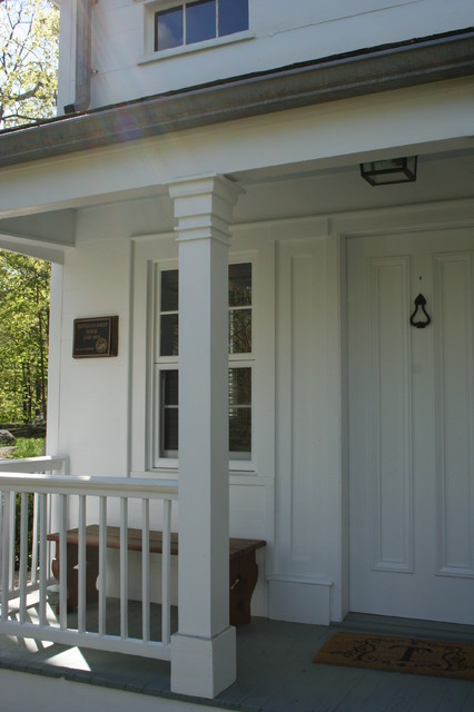 Colonial revival exteriors with additions and conservatory for Colonial porch columns