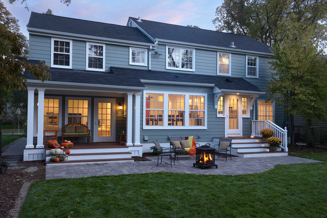 Colonial revival kitchen addition exterior for Colonial house addition