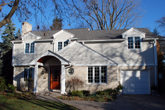 Winnetka, IL Colonial Style Home in Marvin Windows & James Hardie Siding traditional-exterior
