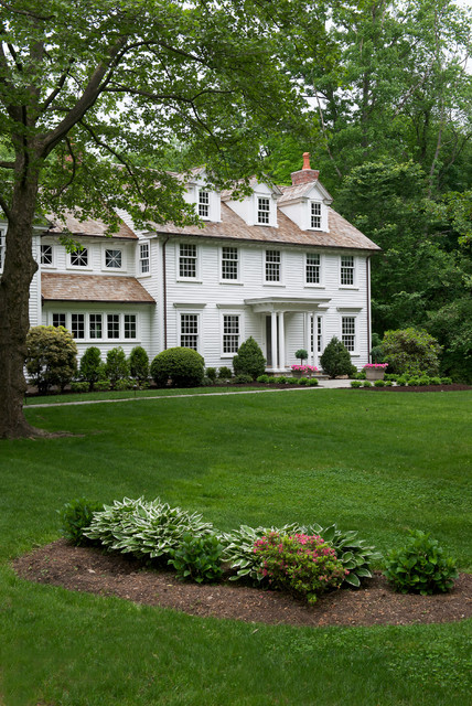 Colonial whole home update traditional exterior new york by titus built llc for Updated colonial home exterior