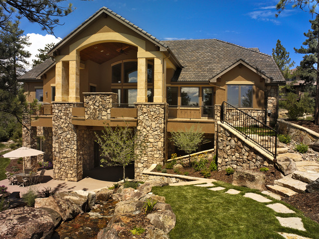 Colorado French Country Rustic Exterior Denver By