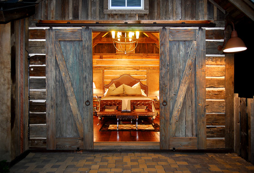 Eye for design decorate with sliding barn doors for Barn style exterior doors