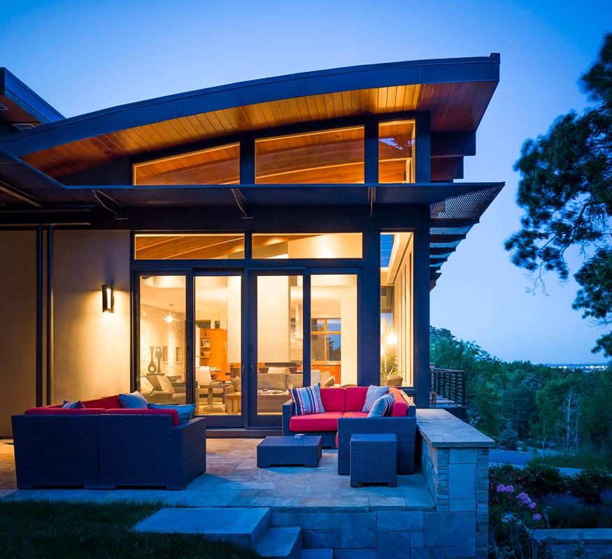 Industrial exterior home idea in Denver
