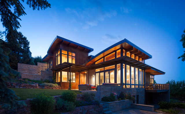 colorado modern home contemporary exterior denver