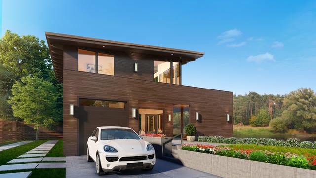 Complete custom home design for Custom home exterior design
