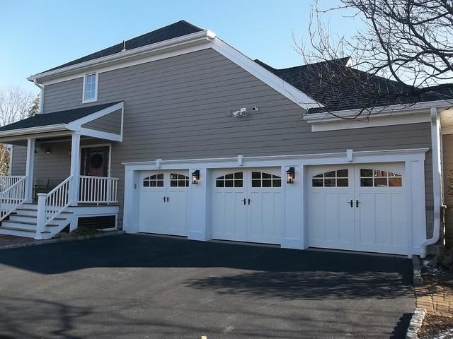 Front Elevation Makeover : Exterior makeover garage side elevation transitional
