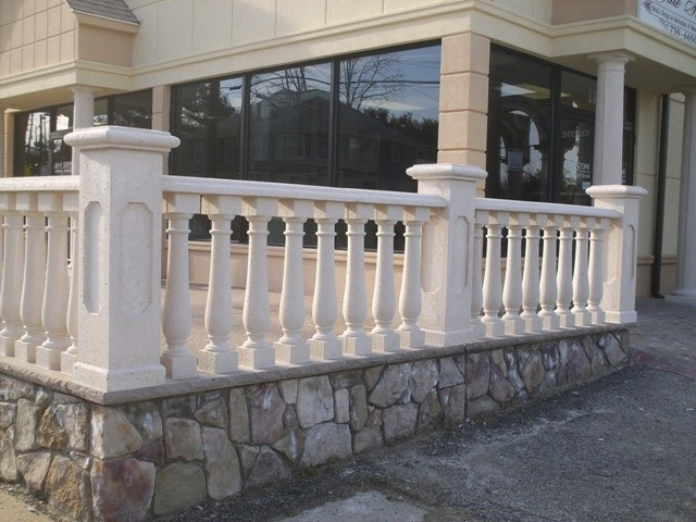 concrete balustrade traditional exterior new york by coral cast architectural stone