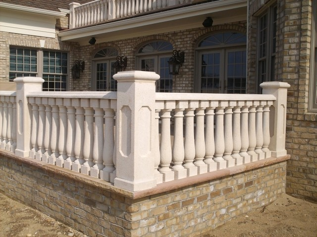 Concrete Balustrade Traditional Exterior New York By Coral Cast Archi