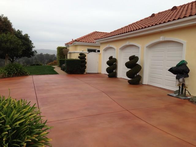 Concrete Decorative Dye Stain Mediterranean Exterior San Luis Obispo By New Life Painting