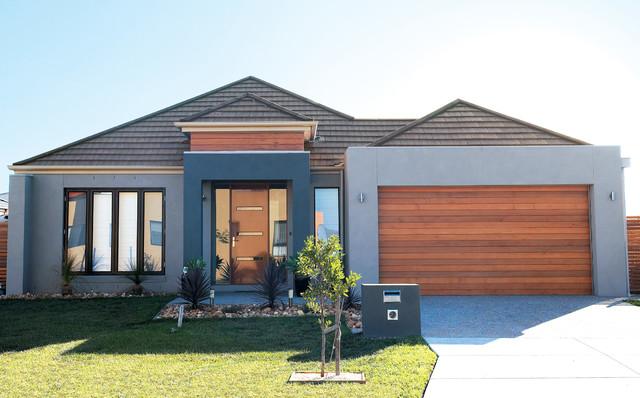 Concrete roof tiles modern exterior