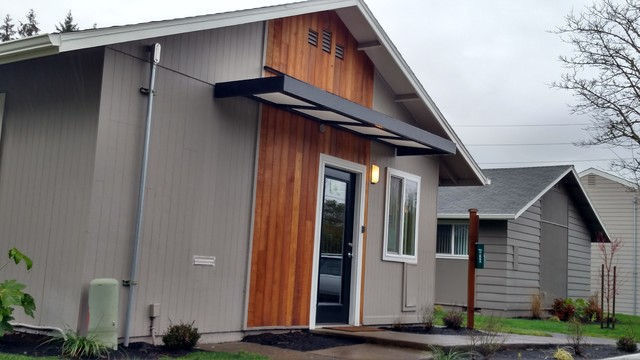 Condo door awnings - Traditional - Exterior - Portland ...