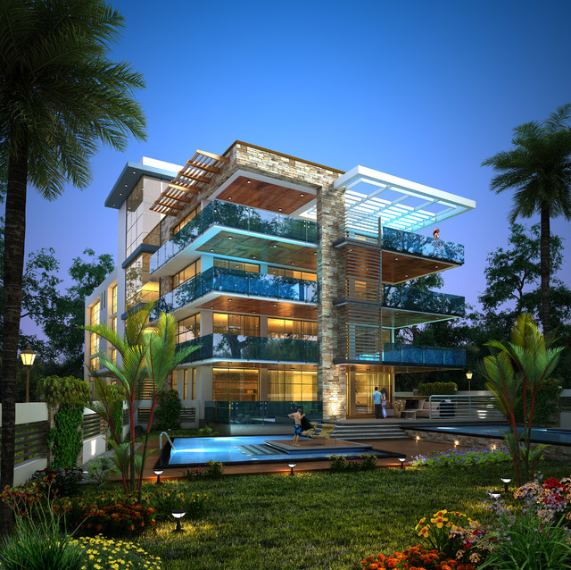Condominium Ocean Reef Islands modern-exterior