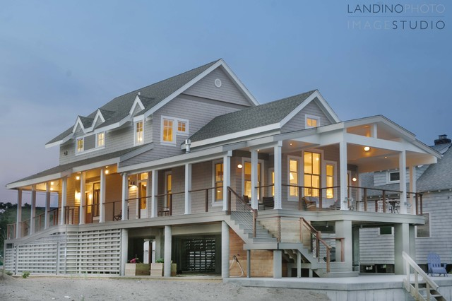 Shingle Style Beach House In Flood Zone