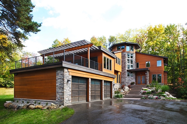 Contemporary Ann Arbor Home Contemporary Exterior Detroit by – Flat Roof Garage With Deck Plans