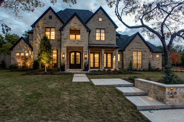 Stone Front Elevation House : Contemporary architectural designed elevation dream house