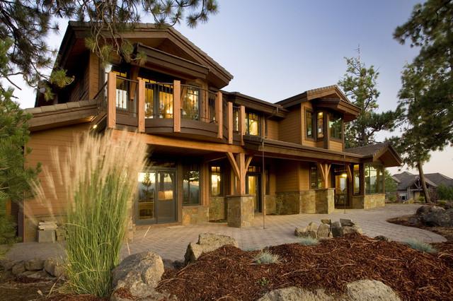 Contemporary craftsman bend or exterior portland by for Contemporary homes portland
