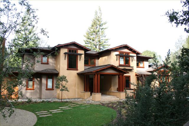 Contemporary Craftsman Home, Portola Valley craftsman-exterior