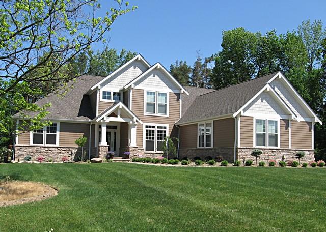 Contemporary craftsman style home craftsman exterior for Craftsman style homes for sale in nh