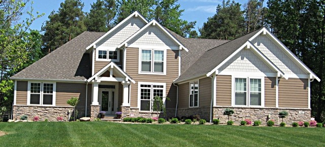 Contemporary craftsman style home craftsman exterior for New construction craftsman style homes