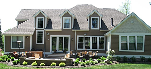 Contemporary craftsman style home craftsman exterior cleveland by eastridge construction for Craftsman style homes exterior photos
