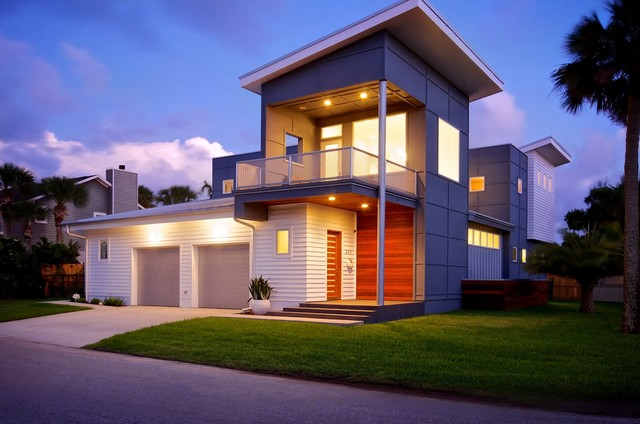 Contemporary custom home in atlantic beach contemporary for Modern house jacksonville