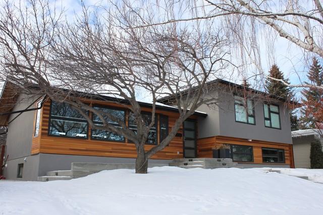 Contemporary exterior for Modern split level homes